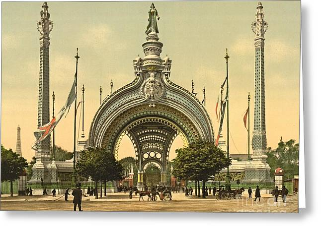 Paris 1900 Exposition Universal Grand Entrance Greeting Card by Padre Art