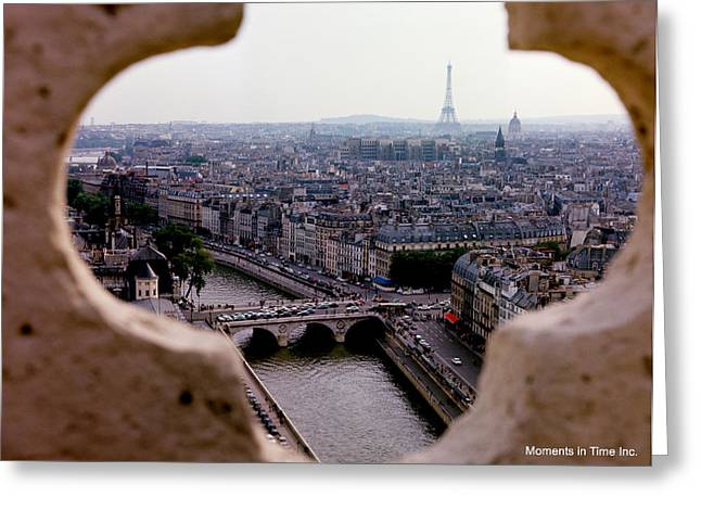 Color_image Greeting Cards - Paris and The Seine 1963 Greeting Card by Glenn McCurdy