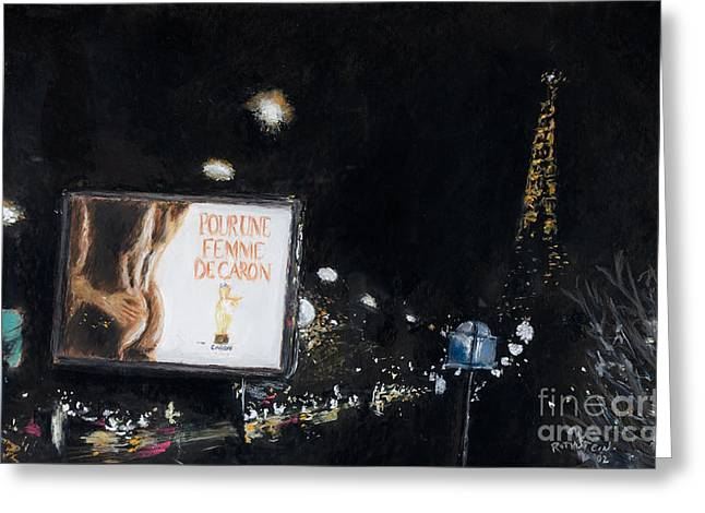 Paris Pastels Greeting Cards - Paris At Night Greeting Card by Barry Rothstein