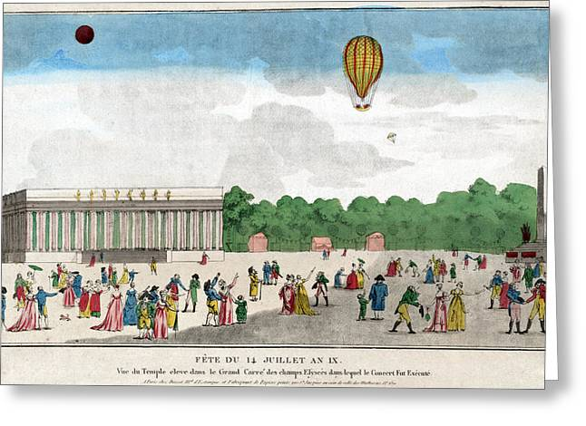 Champs Greeting Cards - PARIS: BASTILLE DAY, c1801 Greeting Card by Granger