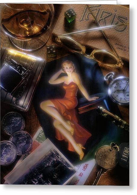 Keyes Greeting Cards - Paris Greeting Card by Bob Nardi