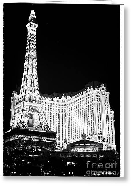 Recently Sold -  - Photo Art Gallery Greeting Cards - Paris Casino at Night II Greeting Card by John Rizzuto