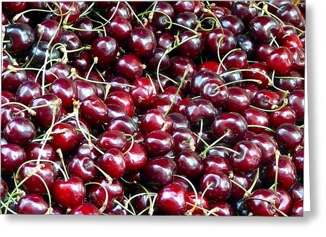 Franch Greeting Cards - Paris Cherries Greeting Card by Rdr Creative