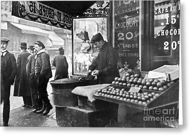 Paris: Chestnut Vendor Greeting Card by Granger