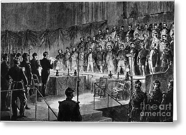 Trial Greeting Cards - Paris Commune: Trial, 1871 Greeting Card by Granger