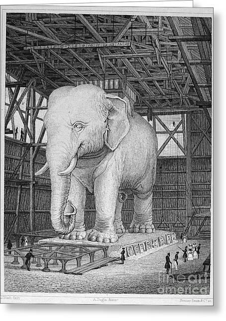 Bastille Greeting Cards - Paris: Elephant Monument Greeting Card by Granger