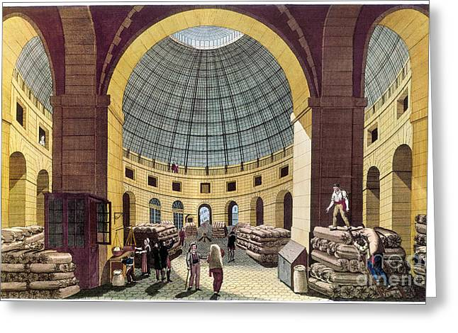Halle Greeting Cards - PARIS: HALLE AU BLE, c1785 Greeting Card by Granger