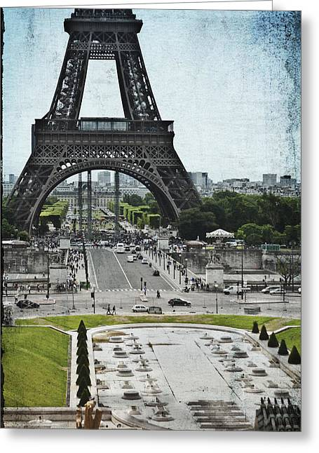 Trocadero Greeting Cards - Paris in Summer Greeting Card by Nomad Art And  Design