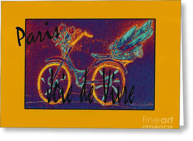 Loaf Of Bread Greeting Cards - Paris  Joie de Vivre Greeting Card by Glenna McRae