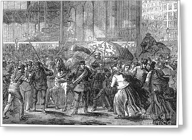 Halle Greeting Cards - Paris: Les Halles, 1871 Greeting Card by Granger