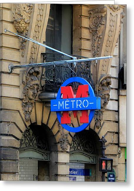 Metro Art Greeting Cards - Paris Metro 5 Greeting Card by Andrew Fare