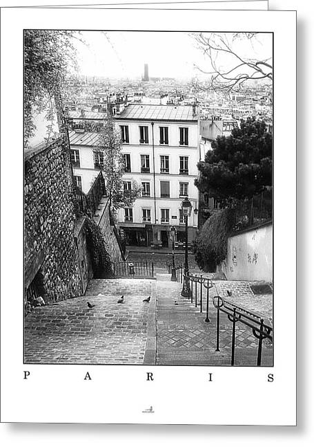 Haus Pyrography Greeting Cards - Paris - Montmartre Greeting Card by ARTSHOT  - Photographic Art