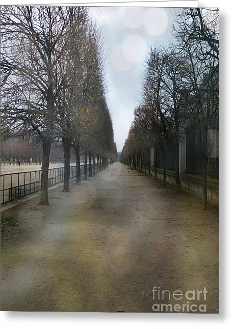 Paris Nature - The Tuileries Row Of Trees  Greeting Card by Kathy Fornal