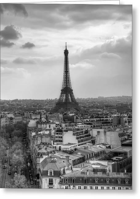 Eifel-tower Greeting Cards - Paris No. 4 Greeting Card by Ryan Wyckoff