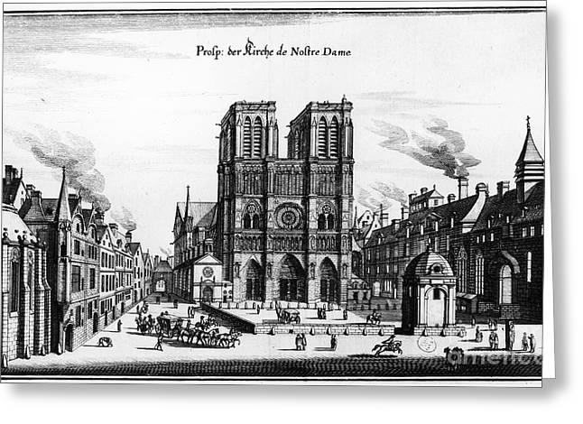 Paris: Notre Dame, C1650 Greeting Card by Granger