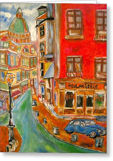 Litvack Greeting Cards - Paris or Montreal Greeting Card by Michael Litvack