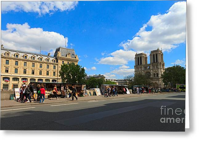 Montebello Greeting Cards - Paris Rive Gauche Greeting Card by Louise Heusinkveld
