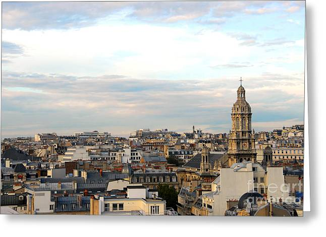 Historic Architecture Greeting Cards - Paris rooftops Greeting Card by Elena Elisseeva
