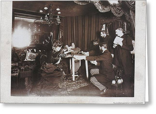 Seance Greeting Cards - Paris Seance 1898 Greeting Card by Granger