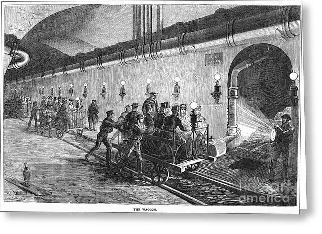 Paris: Sewers, 1869 Greeting Card by Granger