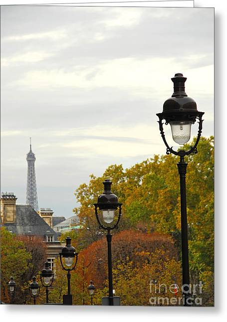 Row Greeting Cards - Paris street Greeting Card by Elena Elisseeva