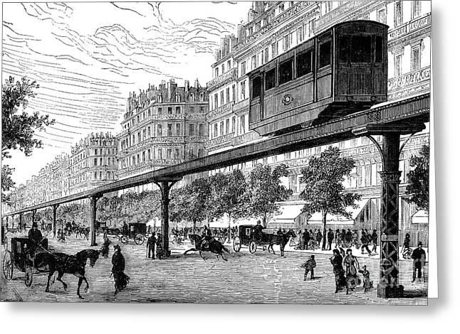 Paris: Tramway, 1880s Greeting Card by Granger