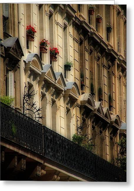Paris Windows Greeting Card by Andrew Fare