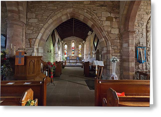 Altar Art Picture Greeting Cards - Parish Church of Saint Mary the Virgin Greeting Card by Gary Finnigan