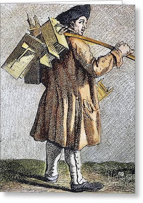 Exterminator Greeting Cards - Parisian Exterminator Greeting Card by Granger