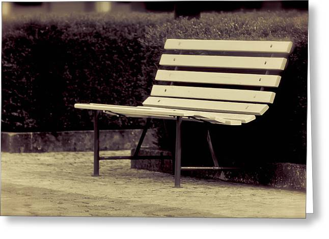 Park Benches Greeting Cards - Park Bench Greeting Card by Brittany Spitler
