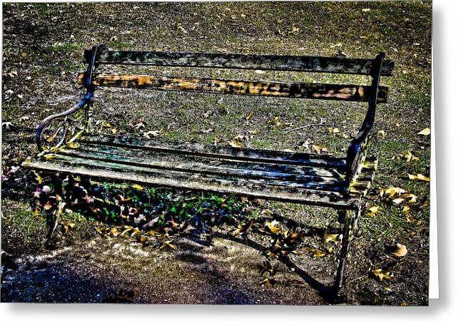 Park Benches Greeting Cards - Park Bench Greeting Card by Colleen Kammerer