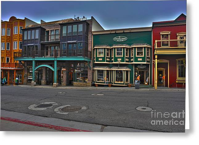 Store Fronts Greeting Cards - Park City Store fronts Greeting Card by Dan Friend