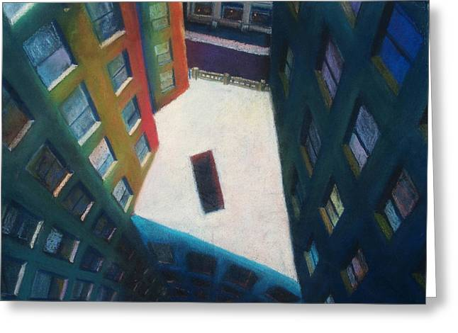 Boston Pastels Greeting Cards - Park Plaza 2 Greeting Card by Patrick Marquis