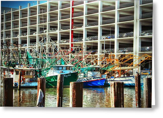 Casino Pier Digital Art Greeting Cards - Parked Greeting Card by Barry Jones