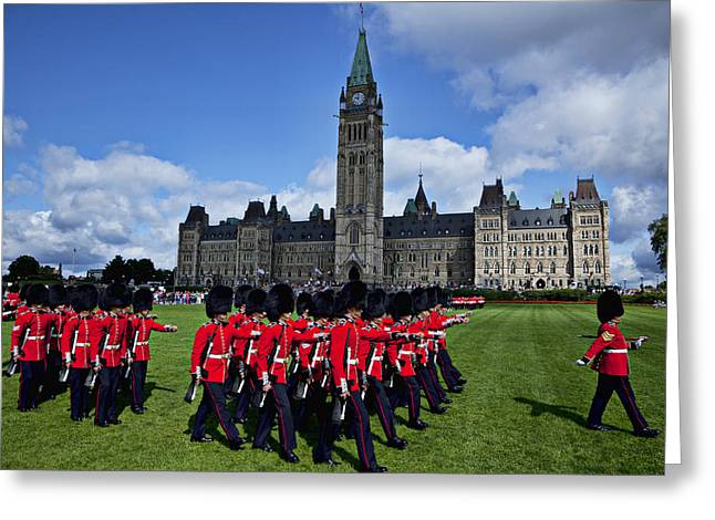 Redcoat Greeting Cards - Parliament building Ottawa Canada  Greeting Card by Garry Gay