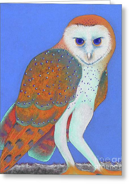 Barn Pastels Greeting Cards - Parliament of Owls detail 1 Greeting Card by Tracy L Teeter