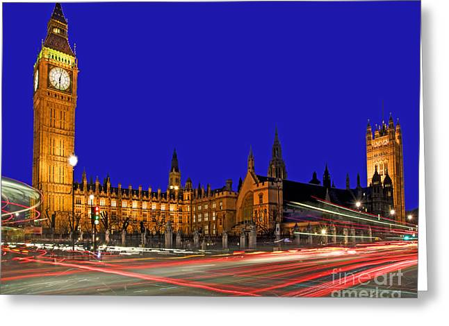 Palace Bridge Greeting Cards - Parliament Square in London Greeting Card by Chris Smith