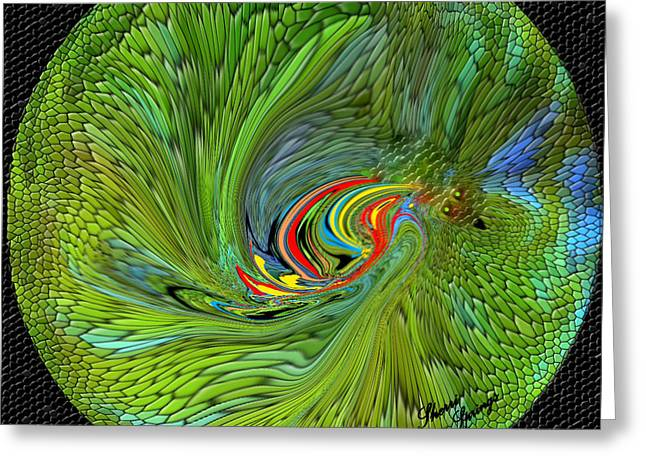 Digital Art Greeting Cards - Parrot Planet Greeting Card by Sherri  Of Palm Springs
