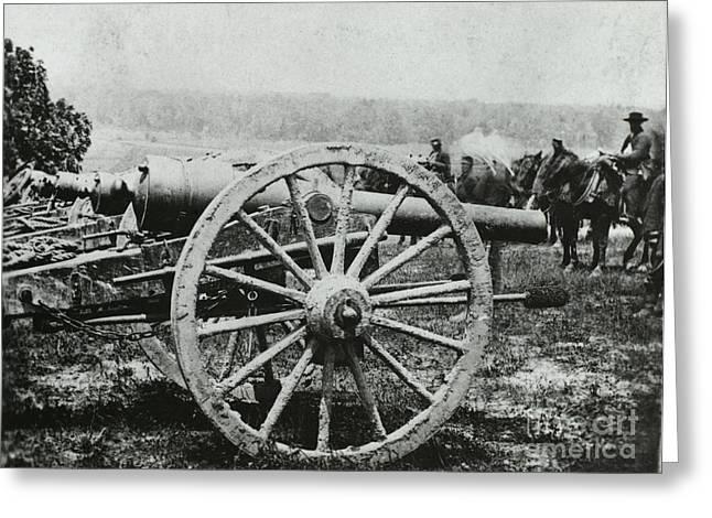 Artillery Gun Greeting Cards - Parrott Gun Greeting Card by Photo Researchers
