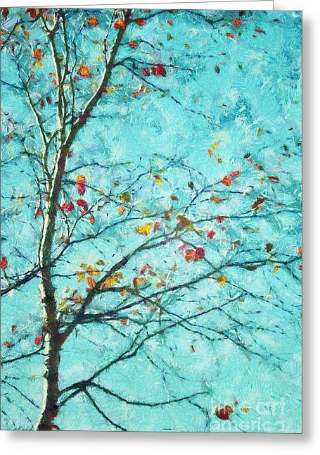 Tree Art Greeting Cards - Parsi-Parla - d01d03 Greeting Card by Variance Collections