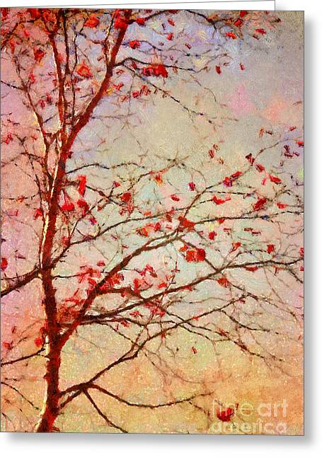 Fall Trees Greeting Cards - Parsi-Parla - d04c03t01 Greeting Card by Variance Collections