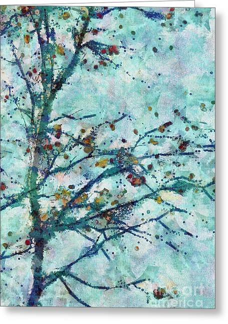 Tree Art Greeting Cards - Parsi-Parla - d13bt04t Greeting Card by Variance Collections