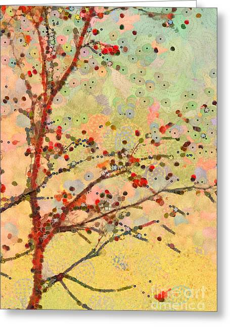 Tree Art Greeting Cards - Parsi-Parla - d16c02 Greeting Card by Variance Collections