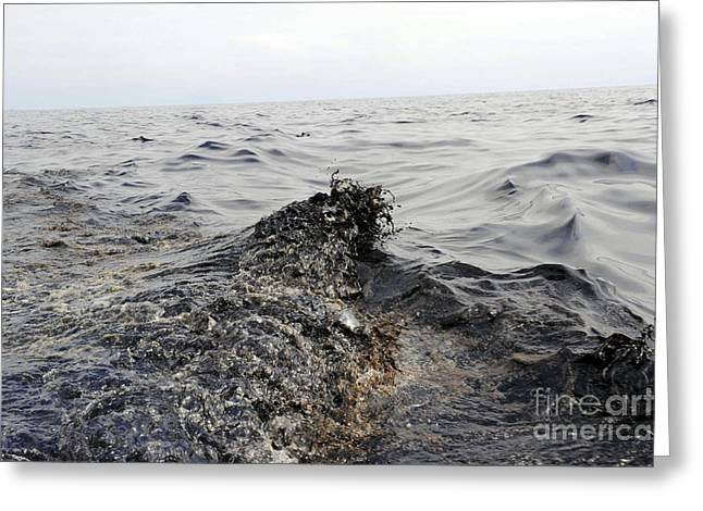 Part Of An Oil Slick In The Gulf Greeting Card by Stocktrek Images