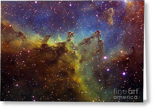 Heart Nebula Greeting Cards - Part Of The Ic1805 Heart Nebula Greeting Card by Filipe Alves
