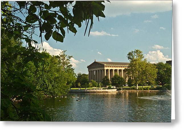Nashville Tennessee Greeting Cards - Parthenon at Nashville Tennessee 10 Greeting Card by Douglas Barnett