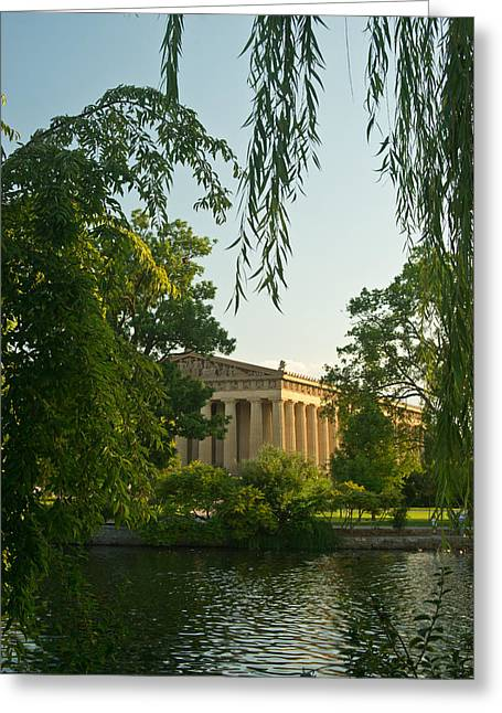 Willow Lake Greeting Cards - Parthenon at Nashville Tennessee 12 Greeting Card by Douglas Barnett