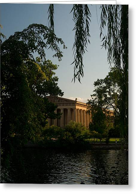 Willow Lake Greeting Cards - Parthenon at Nashville Tennessee 14 Greeting Card by Douglas Barnett