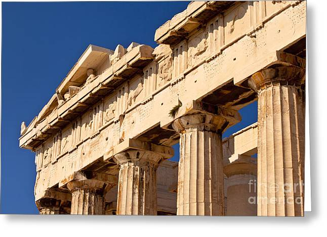 Parthenon Greeting Card by Brian Jannsen