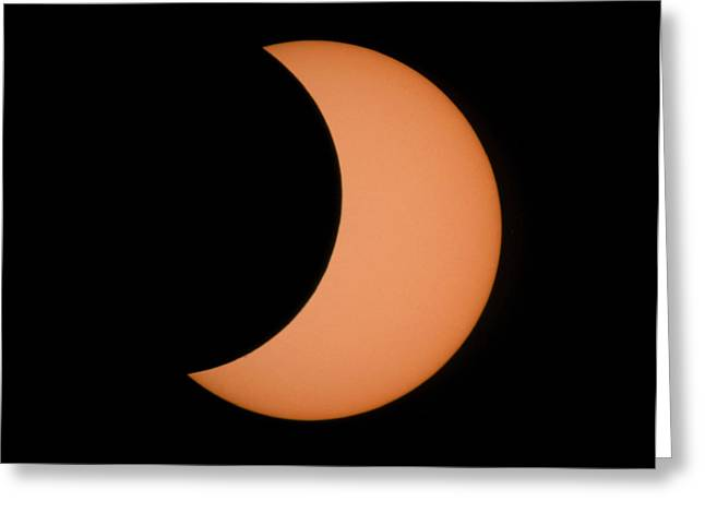 Solar Eclipse Greeting Cards - Partial Phase Of An Annular Eclipse (10/5/94) Greeting Card by Dr Fred Espenak